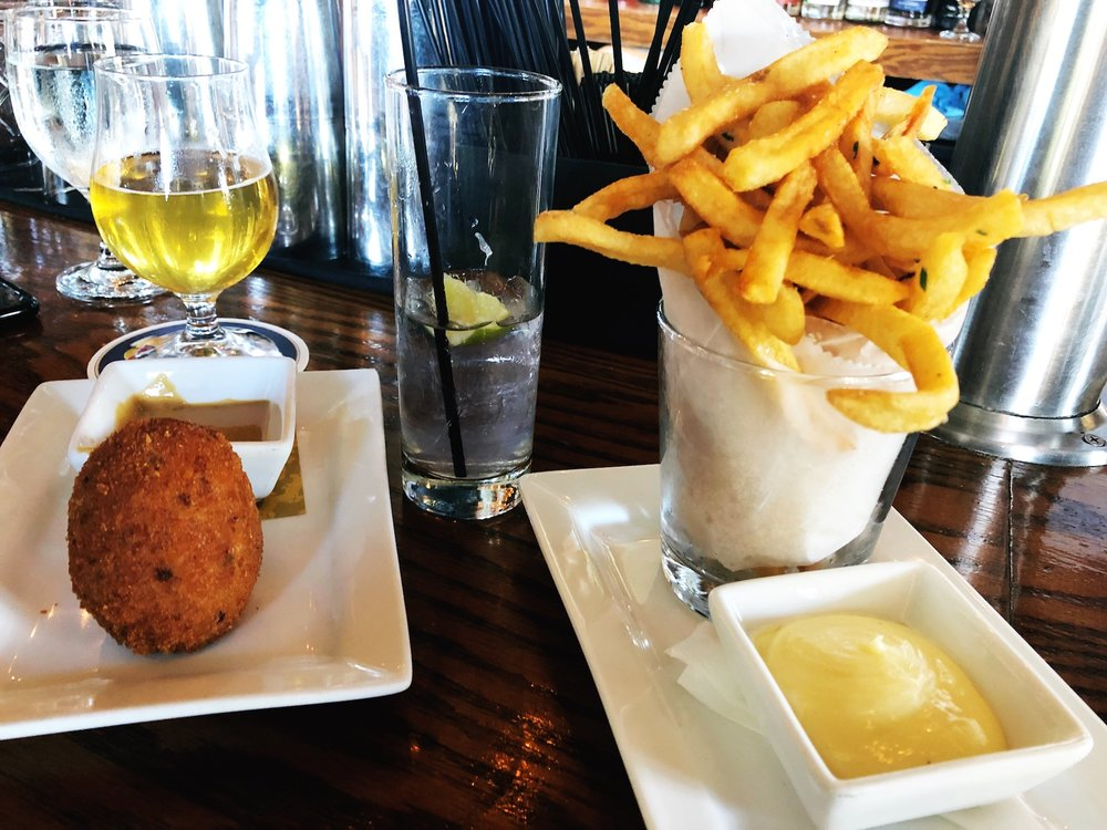 Scotch Eggs + Chips via Owen & Engine