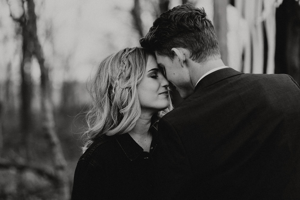 B&W Wedding Couple