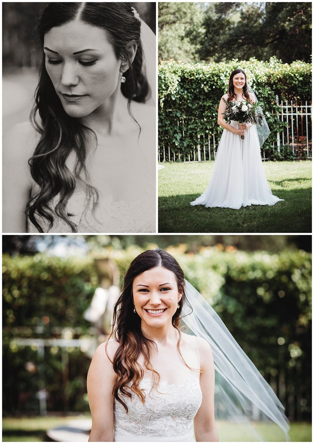Portraits of the beautiful bride before her wedding. The weather was gorgeous that day!