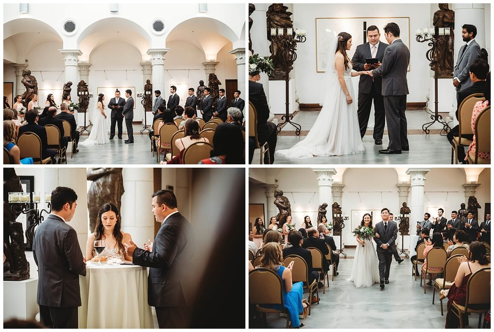 Wedding Ceremony Photo's at the Museum of Biblical Art.