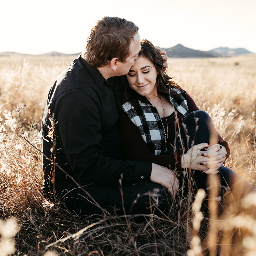 Wichita Mountains engagement session in Lawton, Oklahoma.