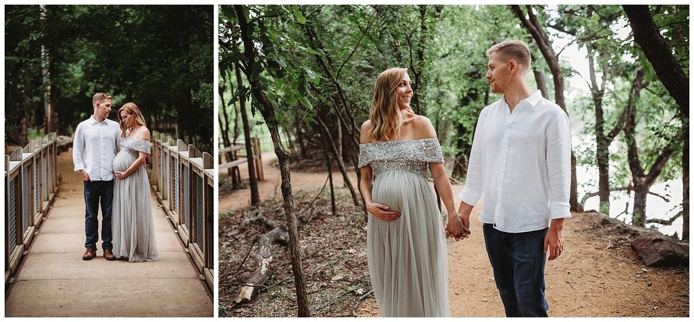 Maternity session on the bride at Martin Nature Park in Oklahoma City, Oklahoma.