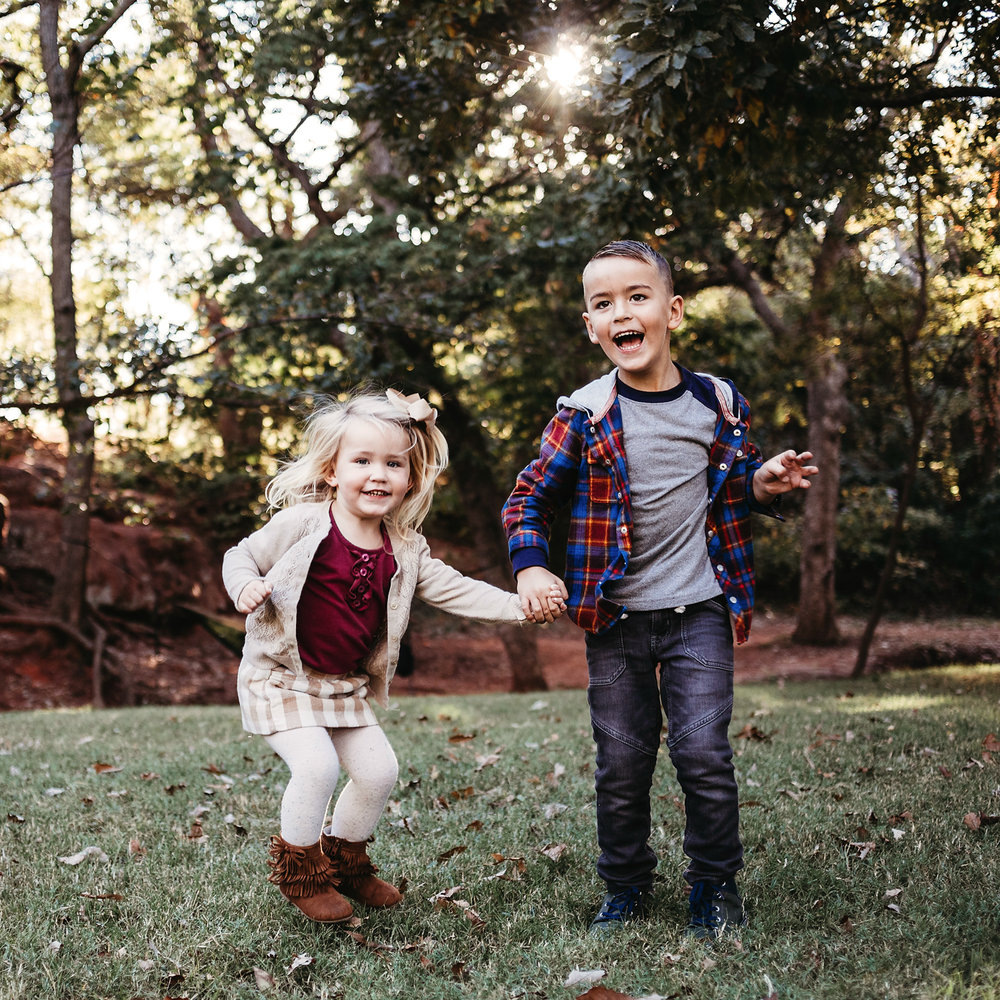 Fall family photography at Fink Park in OKC.