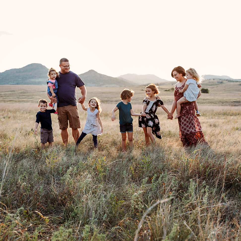 Family Photography in the Wichita Mountains in Lawton, Oklahoma.