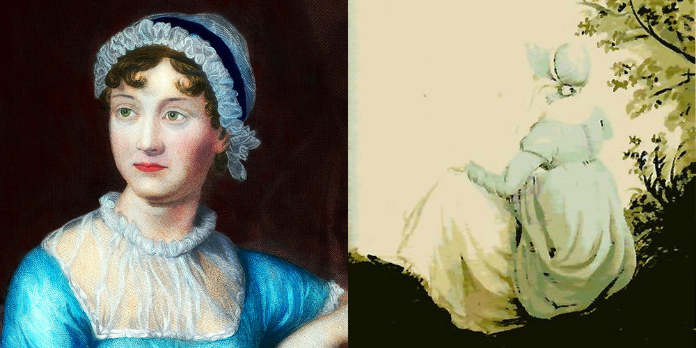 The   Quills! Regency Edition     explores the heroines of Jane Austen's six trailblazing novels, while the   Quills! Classic Edition   celebrates her works among other women writers.  Jane Austen,  1873 by Unknown;  Jane Austen,  1804, by Cassandra Austen, from Wikimedia Commons.