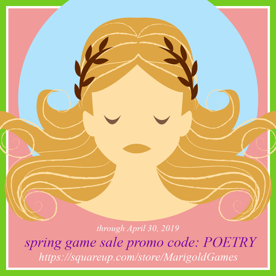 """Poetry is an echo, asking a shadow to dance."" -Carl Sandburg, featured in   Prairie Prose   ,  available at  Marigold Games ."