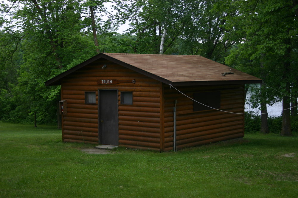 Cabins - The 15 cabins provide a clean, rustic lodging with a low counselor to camper ratio (8:1) which is ideal for small group ministry. The sturdy bunks are equipped with safety rails as well as comfortable waterproof foam mattresses. Four cabins have solid doors and glass windows and can be heated. The other cabins have screen doors and windows with shutters on the windows.
