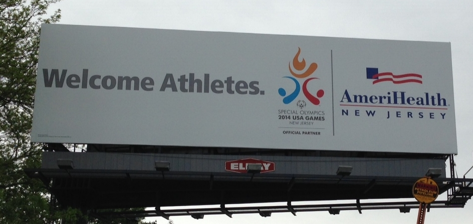 Welcome Athletes Billboard.JPG