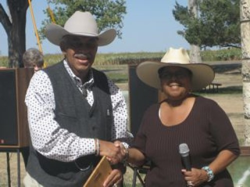 Herb Rhodes Nicodemus Cowboy of the Year.