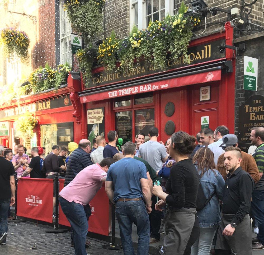 The Temple Bar in Dublin, Ireland
