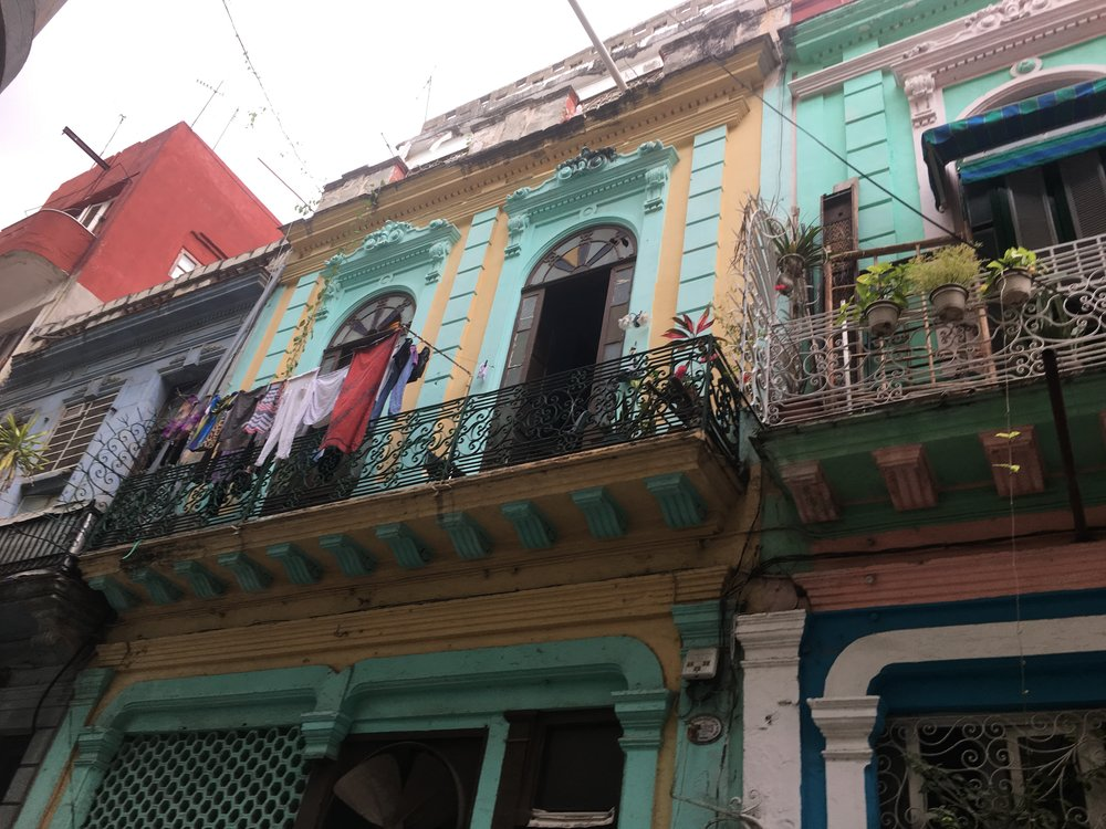 My favorite building. Old Havana is every color but boring.