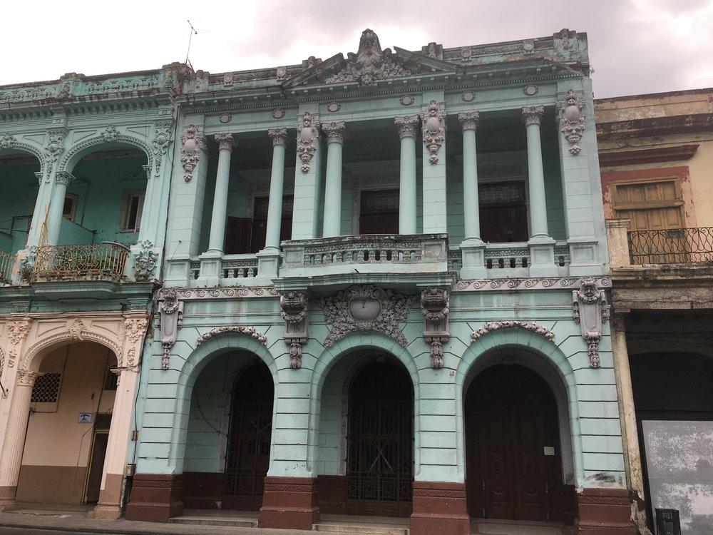 Building on Paseo del Prado, the big street that separates Old Havana and Centro Habana