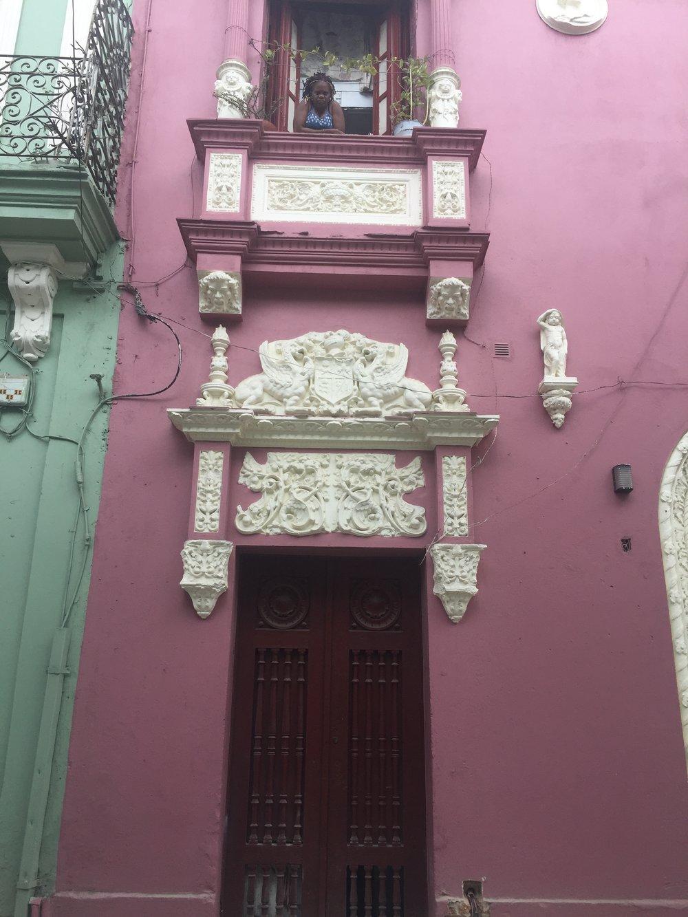 Pink in Old Havana