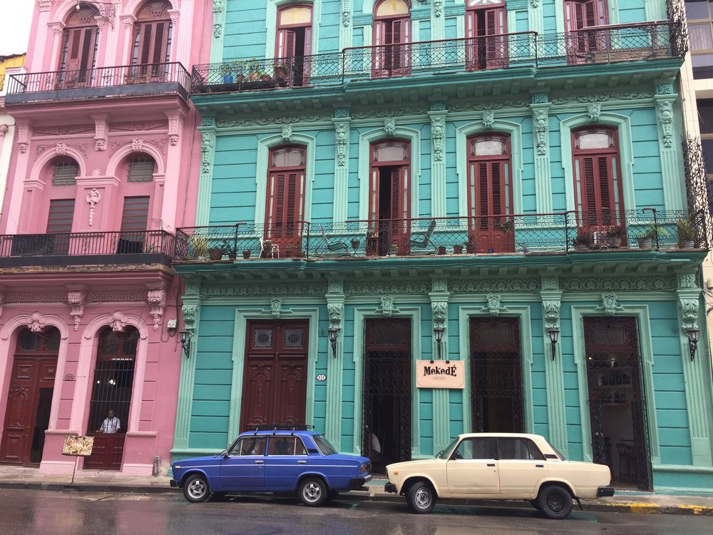 A very rainy day in Old Havana.