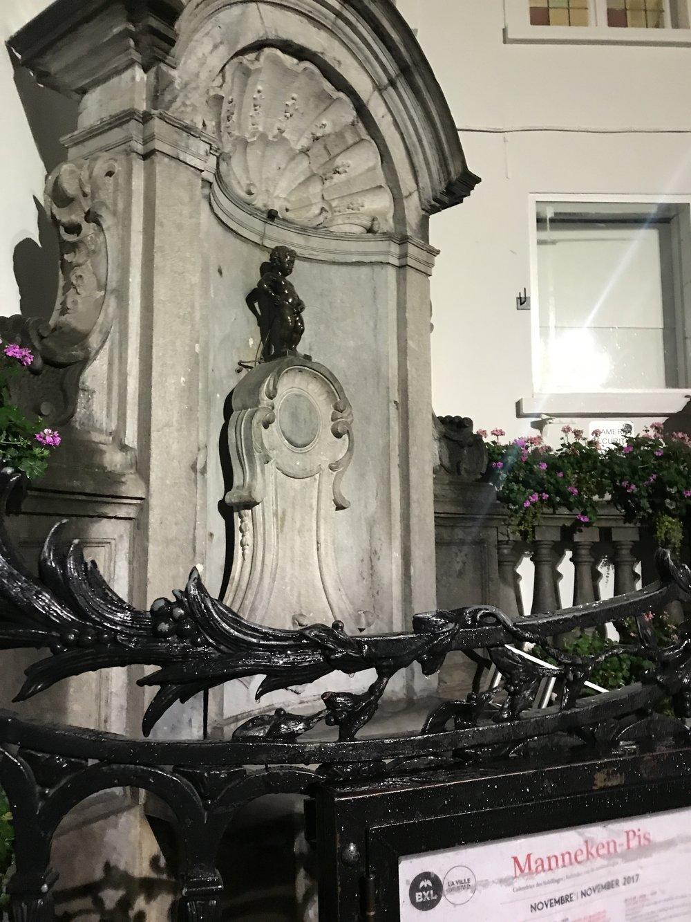 Manneken Pis in Brussels, BE