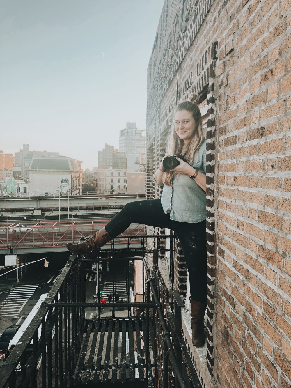 Photoshoots on a Brooklyn Fire Escape