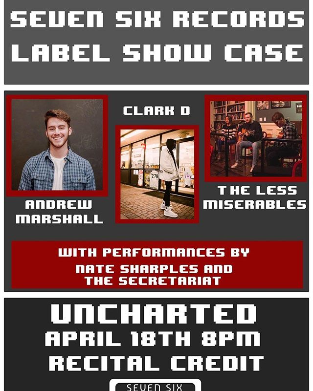 Excited to be playing some new tunes and some oldies tomorrow night at UnchARTed with some amazing players by my side (not just an acoustic guitar this time). Come check out UML's music scene and the NEW student record label, yeah?