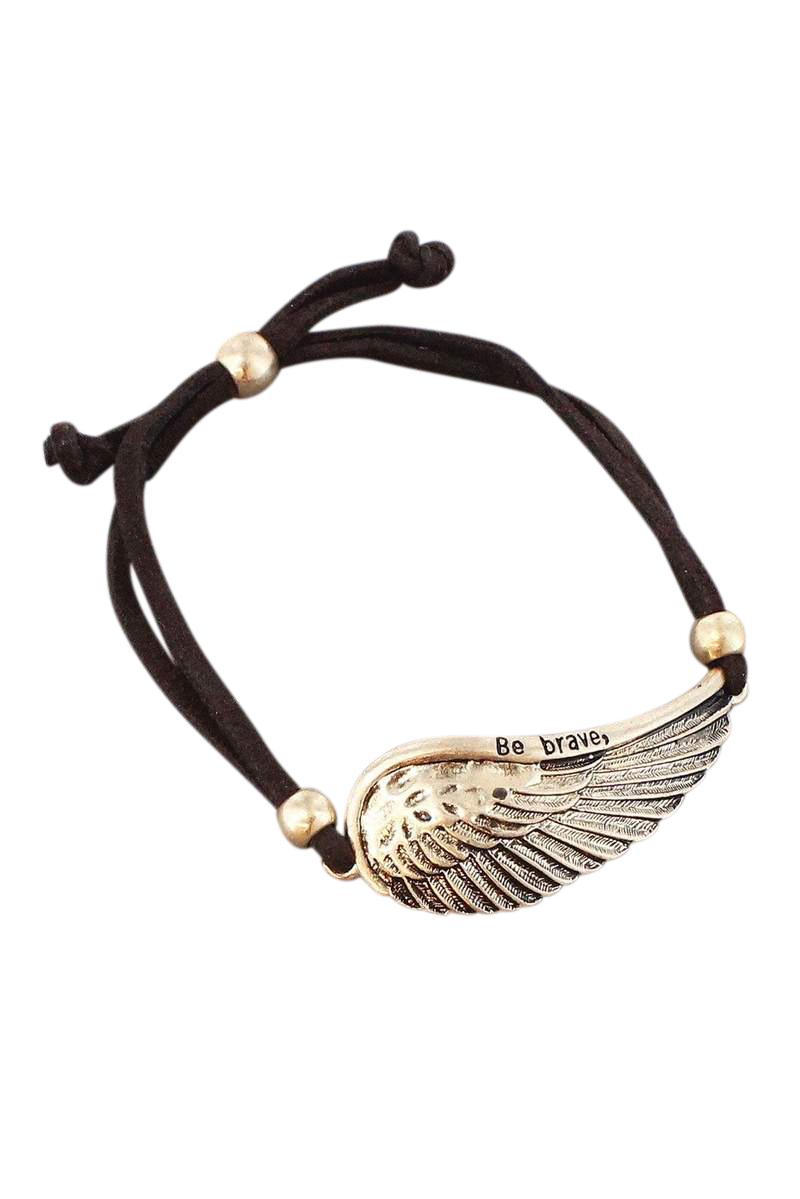 Be Brave bracelet - Gold/Silver 10.00