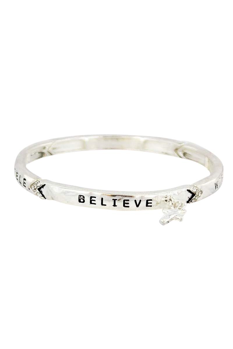 Believe Christian Scripture Bracelet