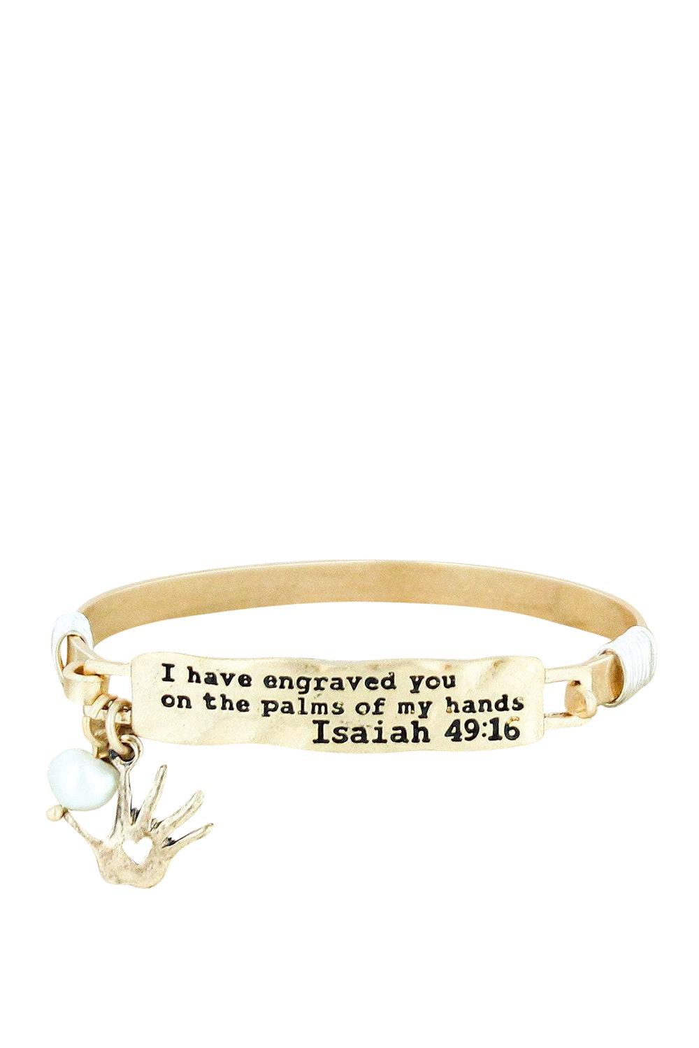 Isaiah 29:16 Inspirational Christian Bracelet