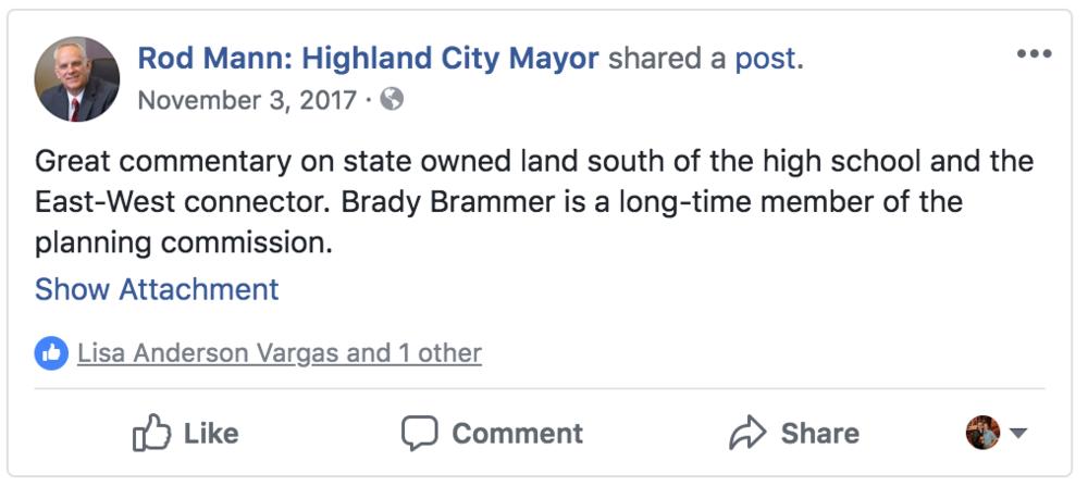 Mann FB endorsement.png