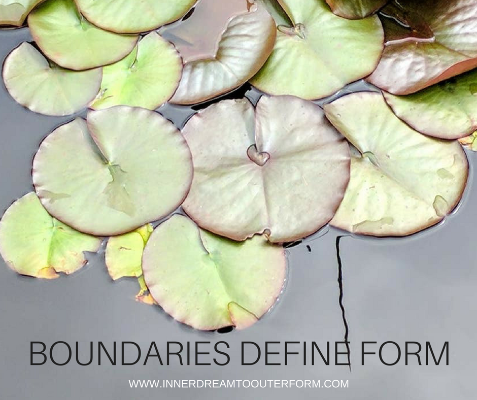 Boundaries define form