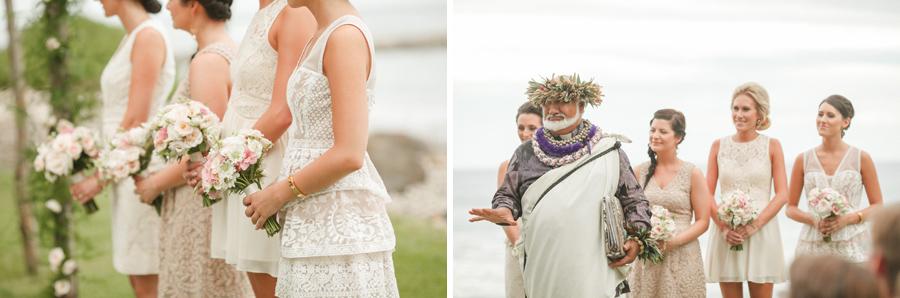 olowalu ceremony bridal party
