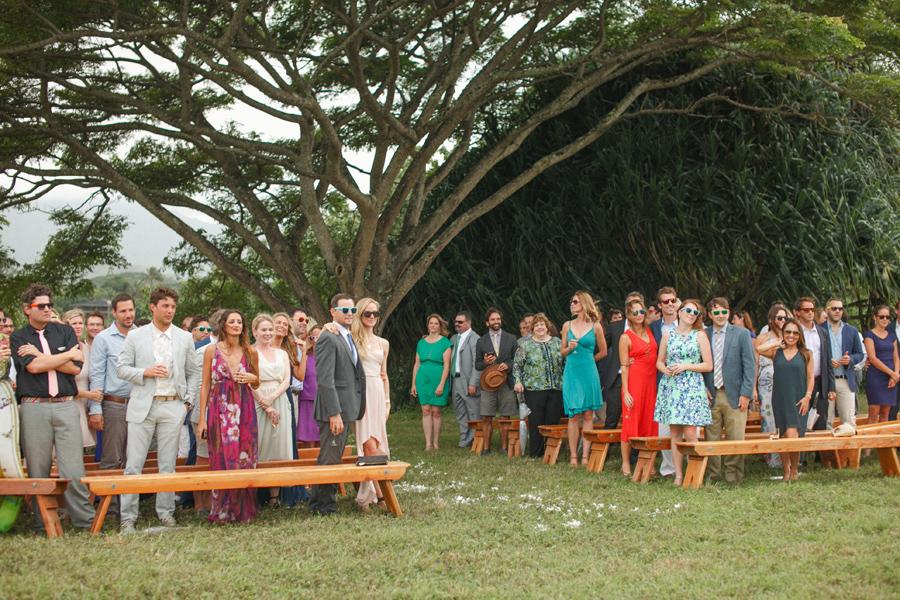 Jannee & Ryan Kauai Wedding Ceremony Exit
