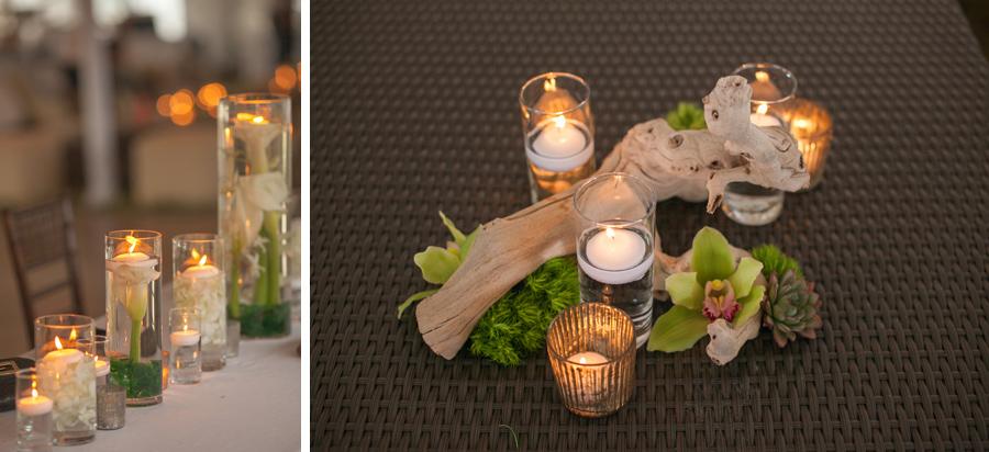 Kauai Wedding Reception Details  succulents