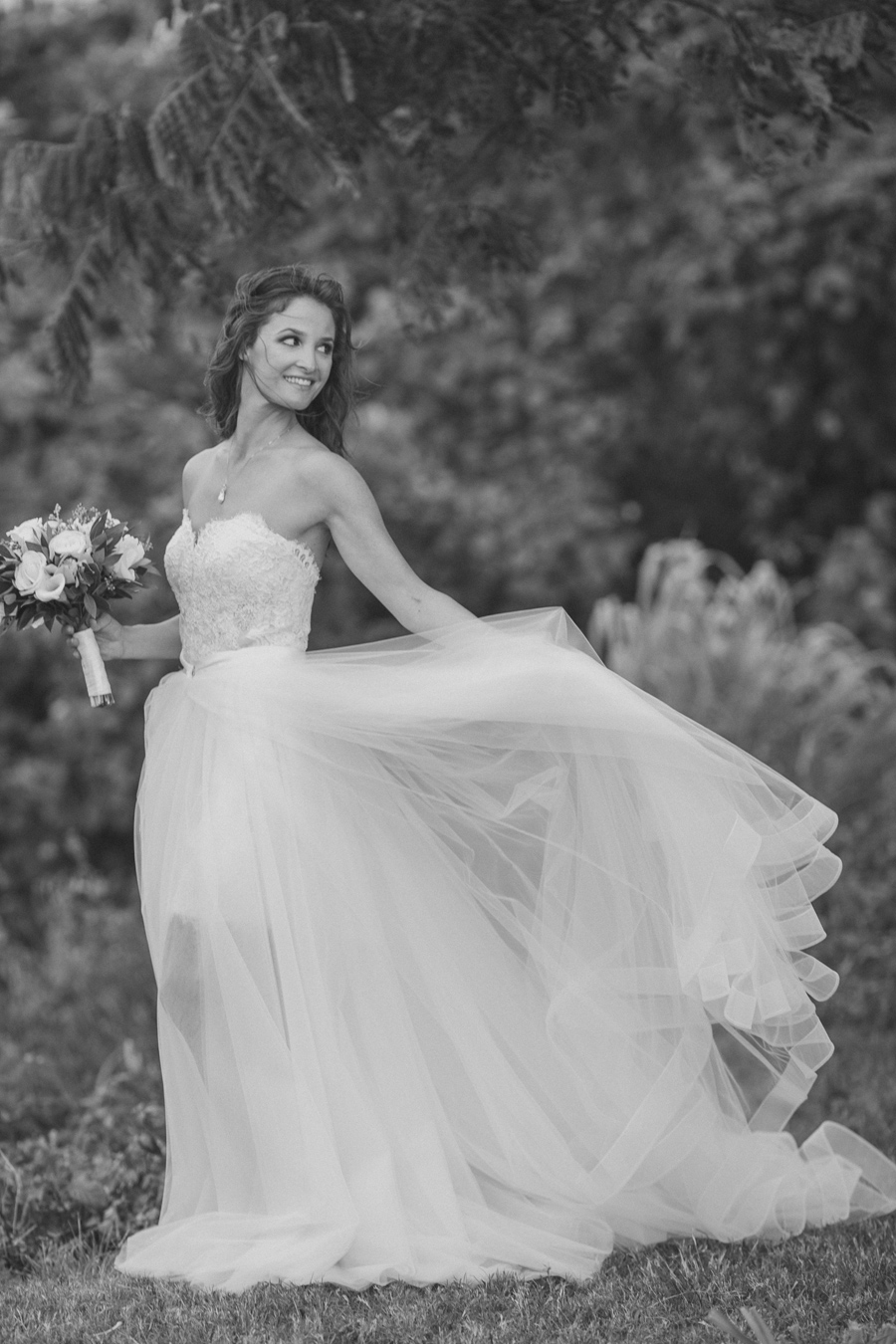 Romantic Kauai Wedding Portraits Janee black and white