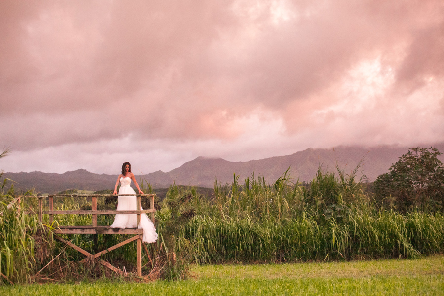 Romantic Kauai Sunset Wedding Portraits Janee