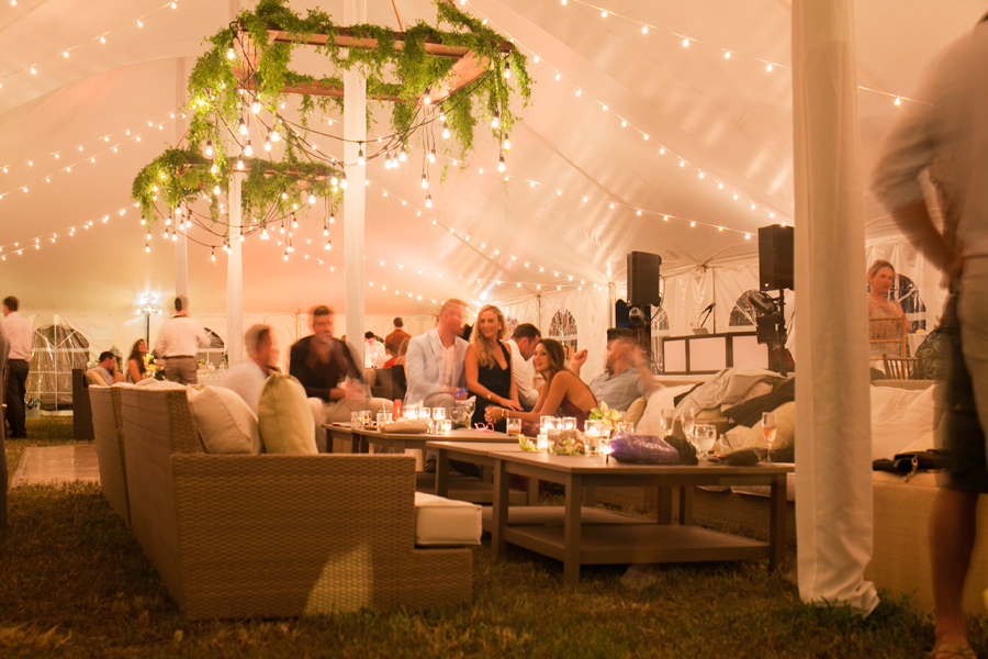 Swanky Kauai Wedding Reception