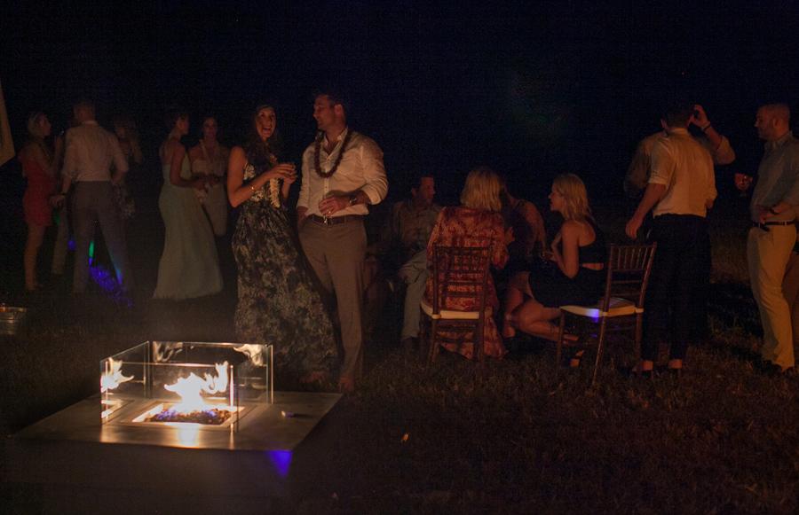 Kauai Wedding Reception Photographer fire pit