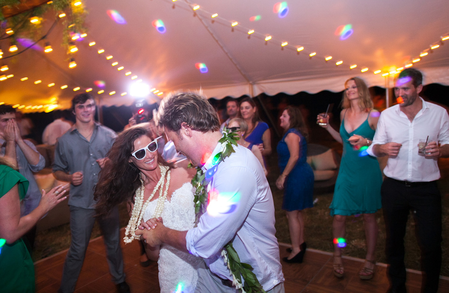 Kauai Wedding fun Dance photographer