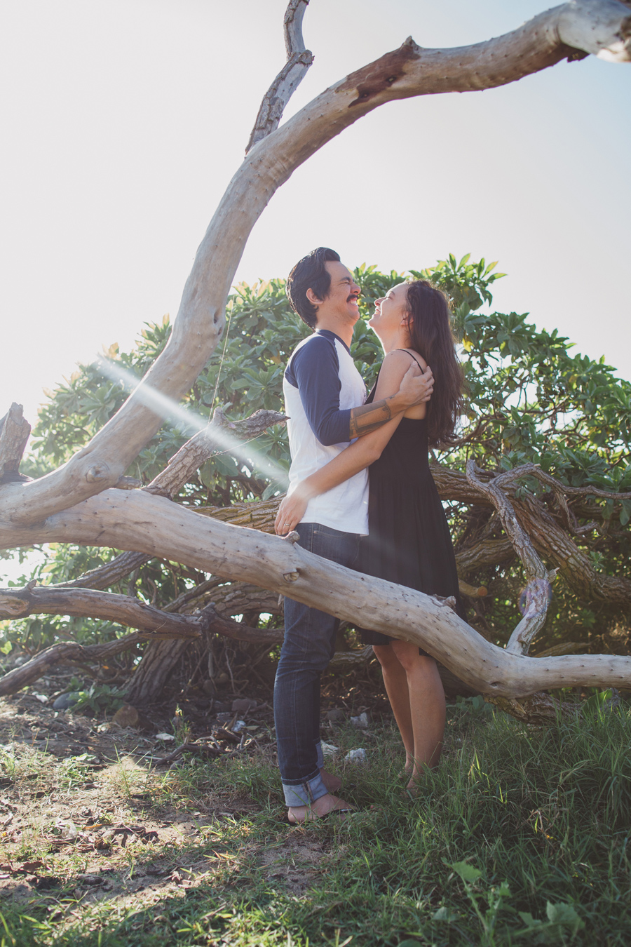 fun maui engagement photography