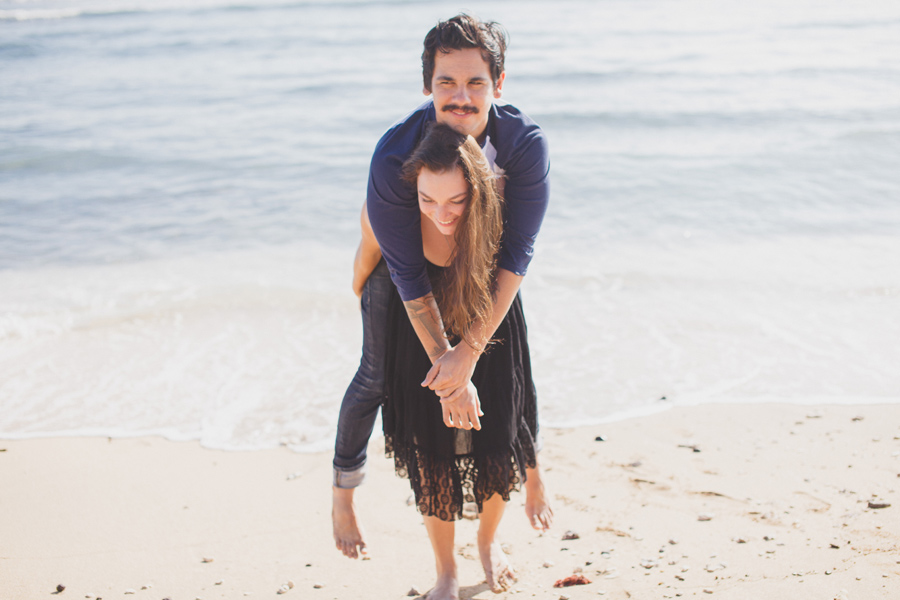 fun north shore engagement photography