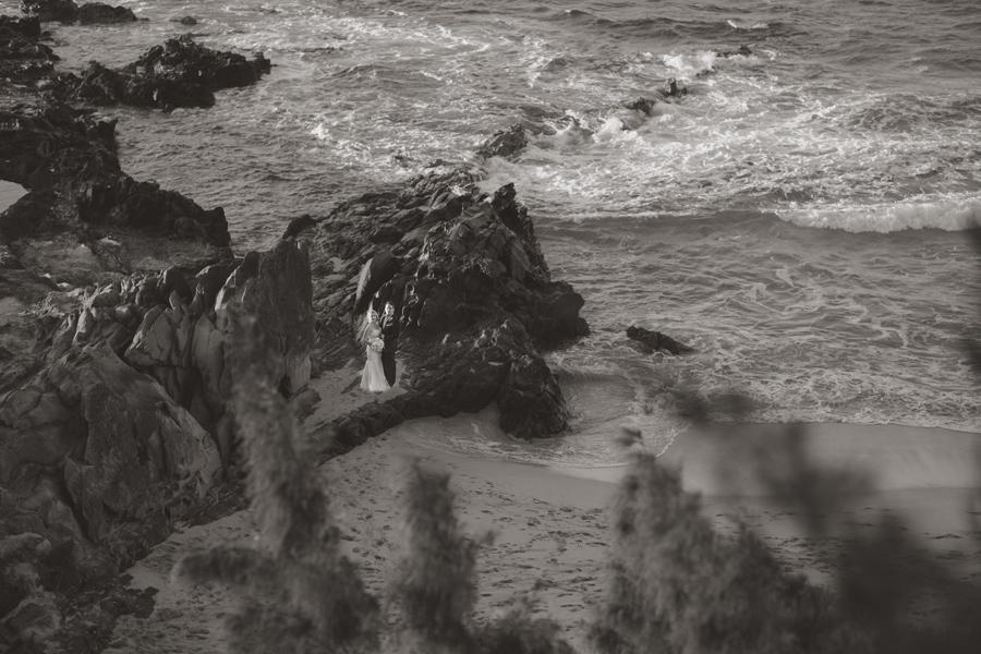 Black and White Wedding Maui Photographer