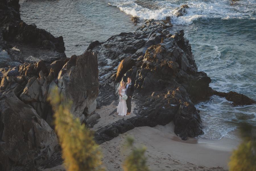 Ocean Beach Cliff Elopement Photographer