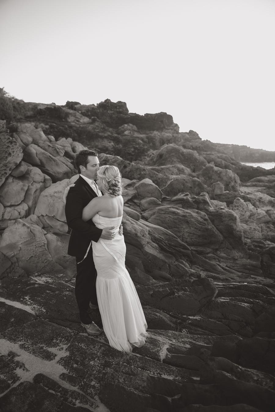 Black and White Kiss Wedding Maui Photographer