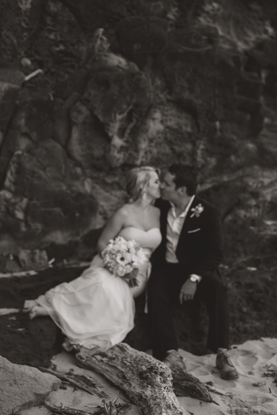 Black and White Romantic Wedding Maui