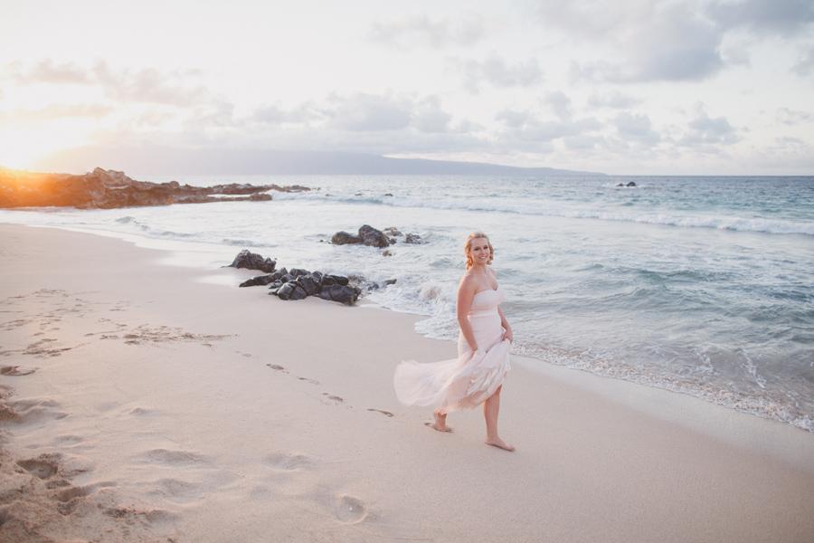 Ocean Beach West Maui  Bridal Photographer