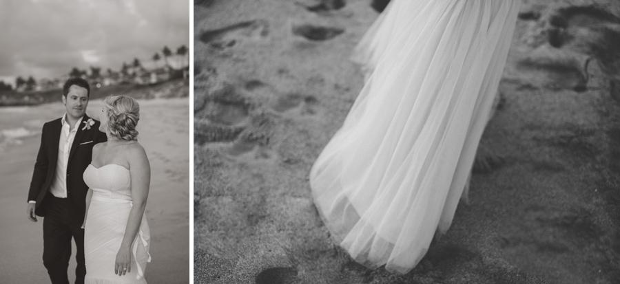 Black and White Romantic Wedding Maui