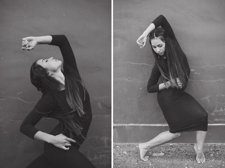 black and white dance portrait photographer