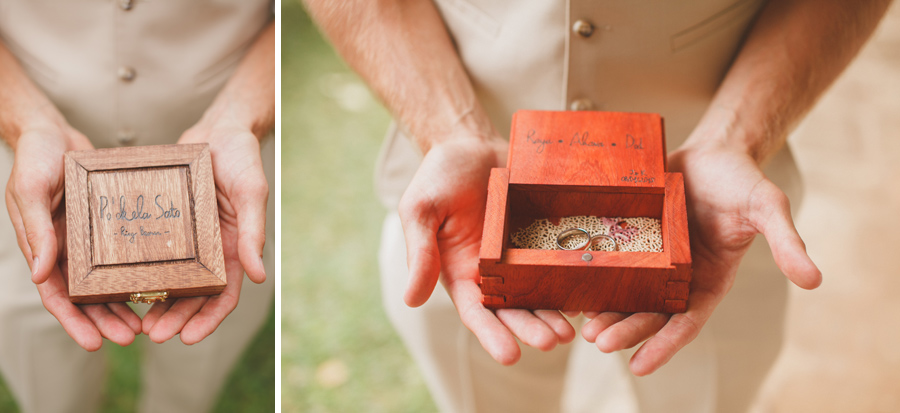Handmade Wedding ring box Bailey House Museum