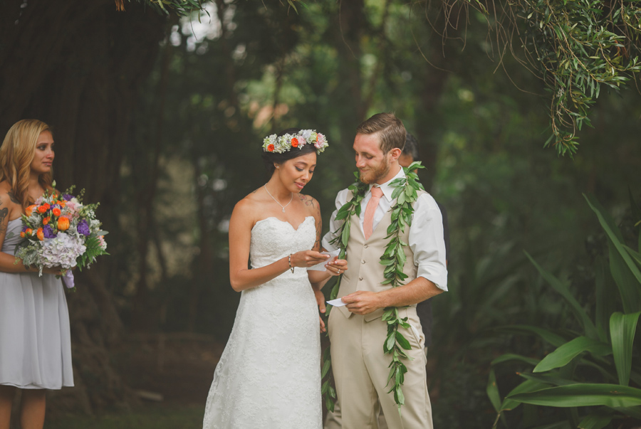 Vows at Maui Wedding Venue Bailey House Museum