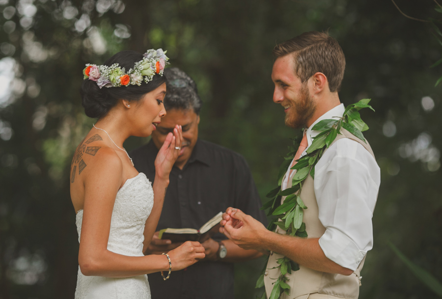 Bride Crying at Maui Wedding Venue Bailey House Museum