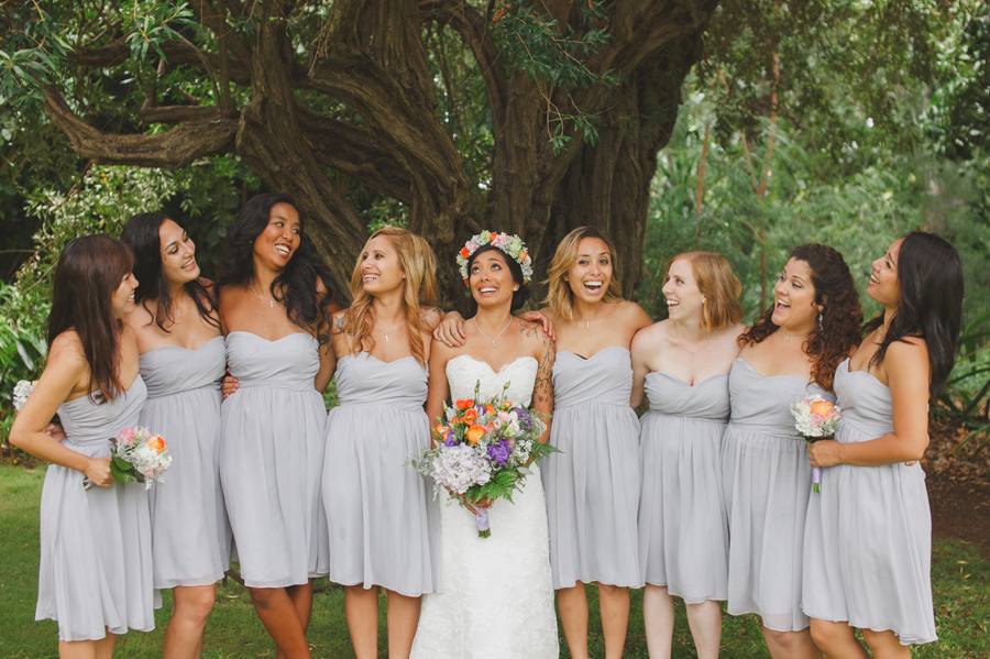 Bridesmaids at Maui Wedding Venue Bailey House Museum