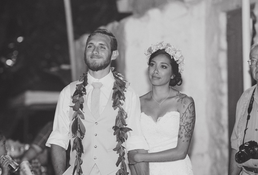 toast for bailey house museum maui hawaii wedding