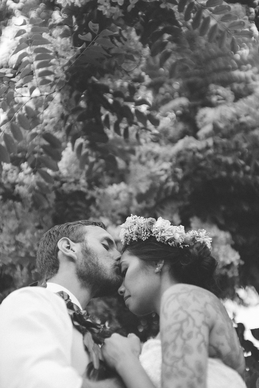 Black and White Romantic Wedding Maui Photography