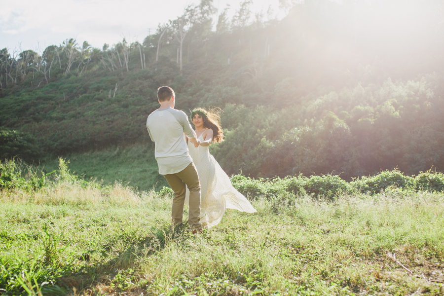 Playful Maui Engagement
